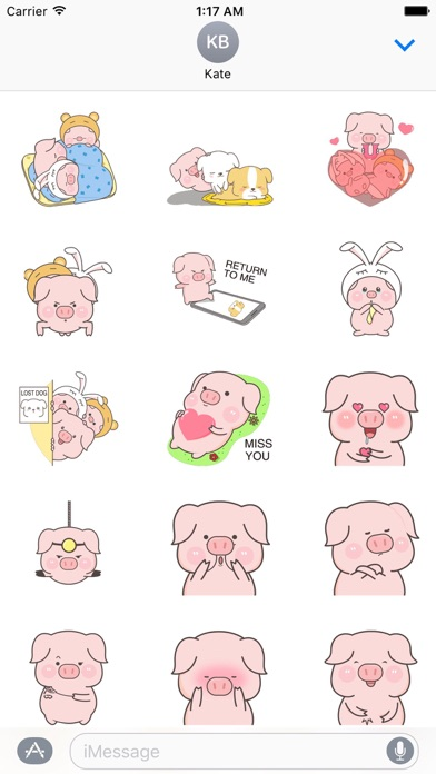 Animated Cute Pink Pig Sticker Screenshot