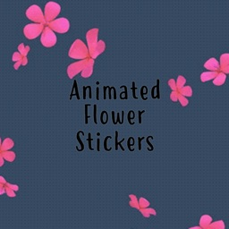 Animated Flower Pack Stickers
