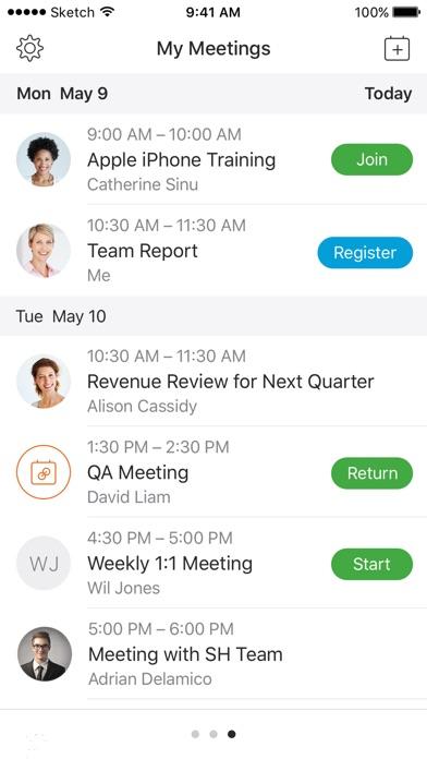 Cisco Webex Meetings screenshot two