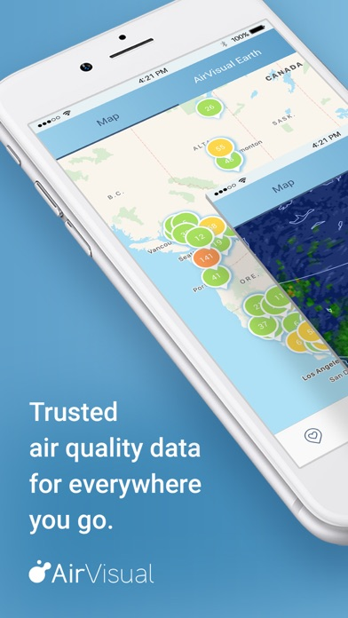 Screenshot for AirVisual Air Quality Forecast in New Zealand App Store