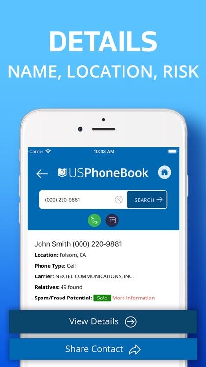 USPhoneBook: Reverse Caller ID screenshot-3