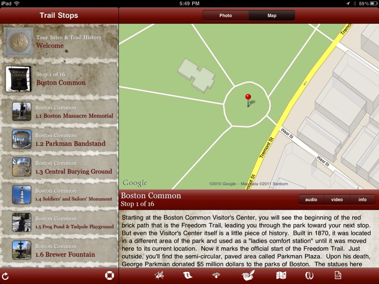 Tour Freedom Trail for iPad