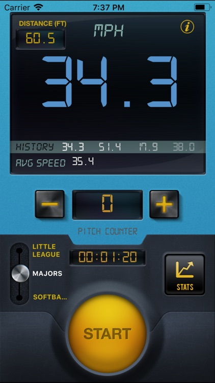 Baseball Speed Radar Gun Pro screenshot-3