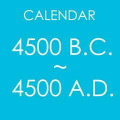 Calendar : 4500 BC to 4500 AD