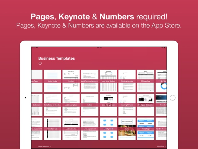 Business templates for pages on the app store business templates for pages on the app store friedricerecipe Images
