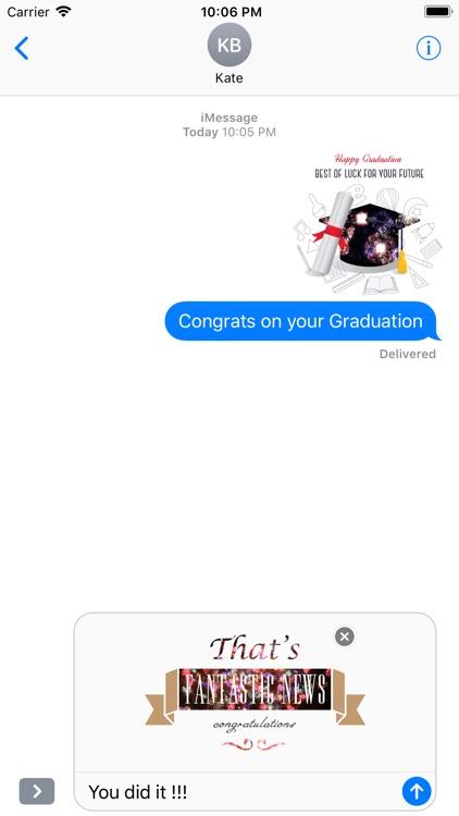 Animated Congrats Stickers screenshot-4