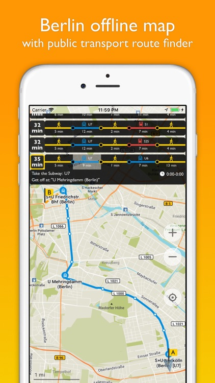 Berlin offline map & nav screenshot-0