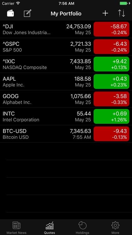 Stocks Widget and Portfolio screenshot-3