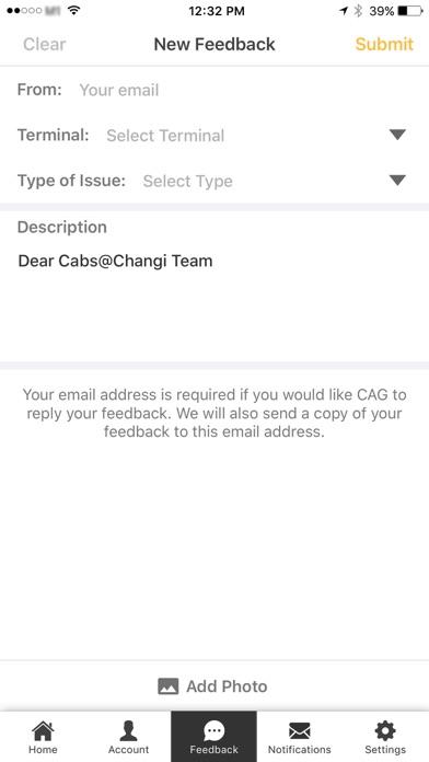 Cabs@Changi screenshot four