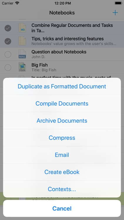 Notebooks for iPhone screenshot-7