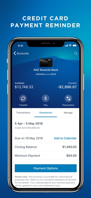 sync iphone and ipad anz on the app 8287