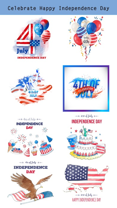 4th of July - Watercolor Pack screenshot 2
