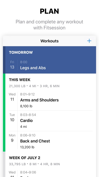 Fitsession: Workout Journal