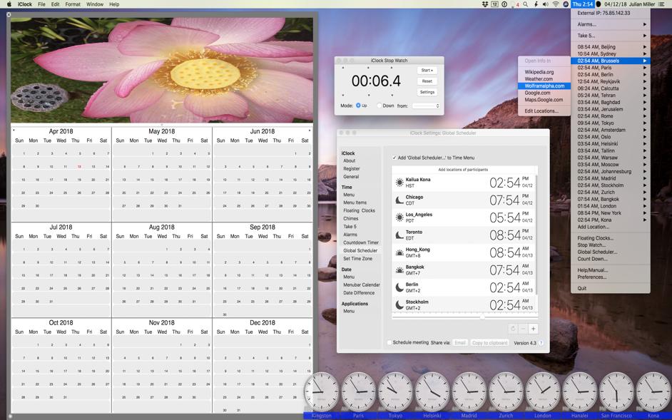 iClock Mac 破解版 多功能的高效菜单栏时钟-麦氪派