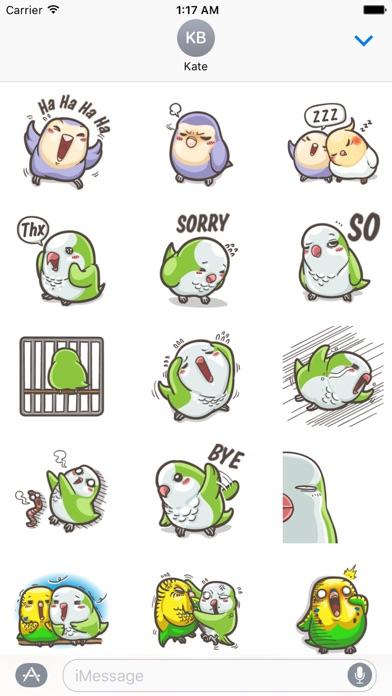 Cute Parrot ParrotMoji Sticker screenshot 2