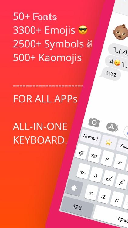 Keyboard Fonts+Emojis+Symbols