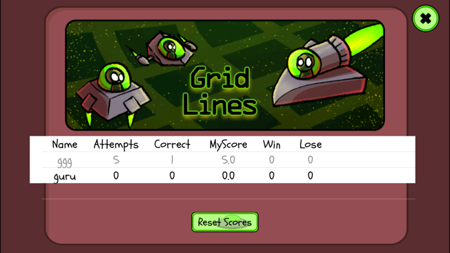 Line Drawing Game Multiplayer : grid lines ordered pair game on the app store