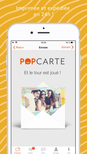 Popcarte - Carte Postale Capture d'écran