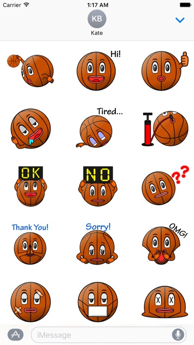 Basketball Club Emoji Sticker Screenshot