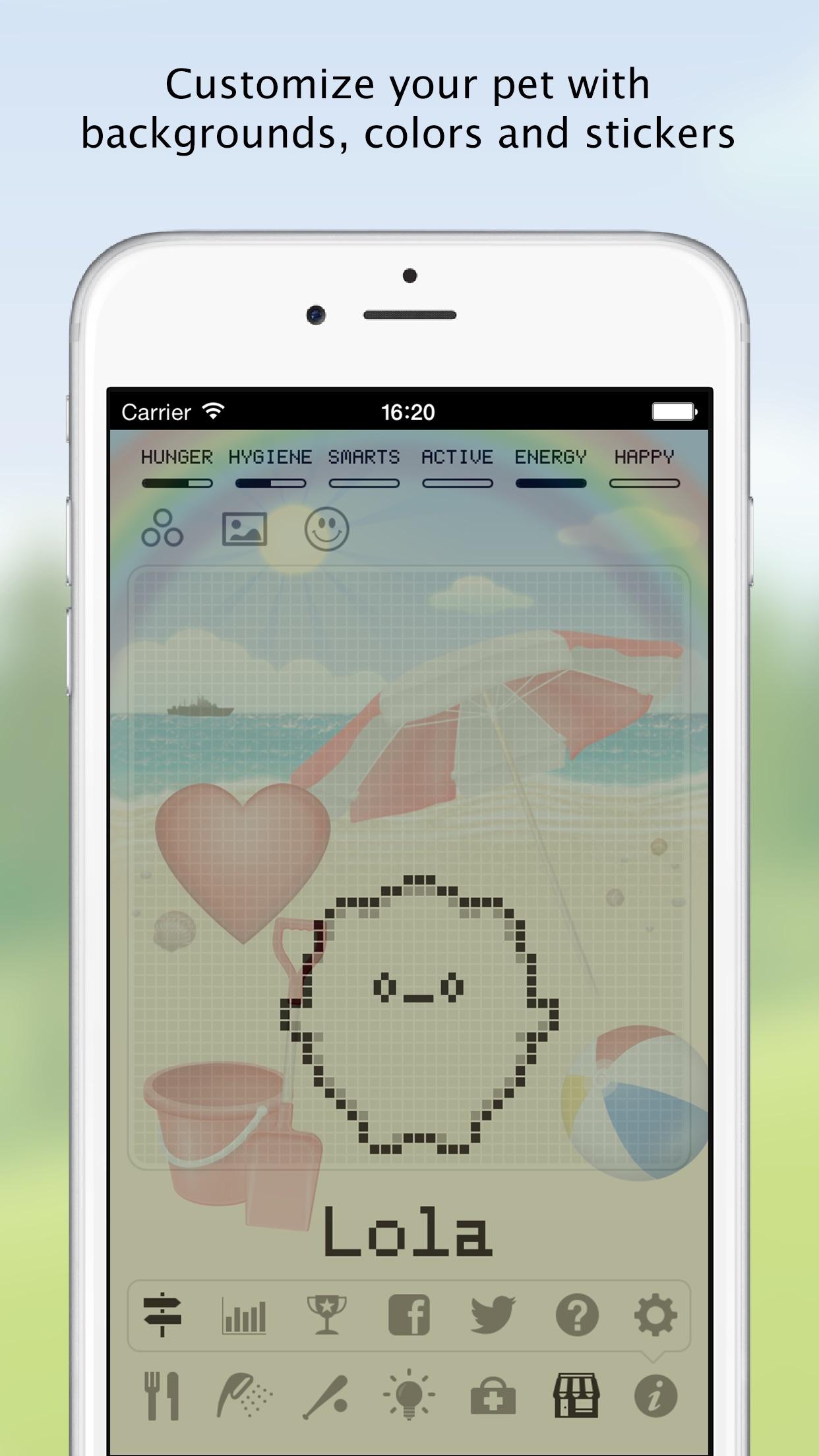 Hatchi - A retro virtual pet Screenshot