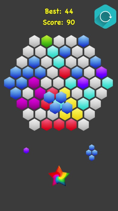 Hexagonal Merge.. screenshot 4