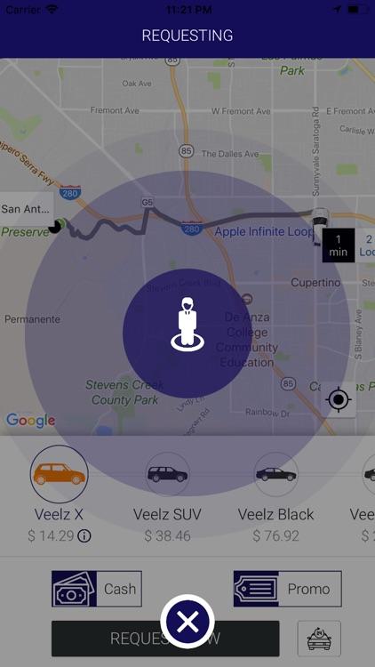 Veelz - Ride Sharing Redefined screenshot-3