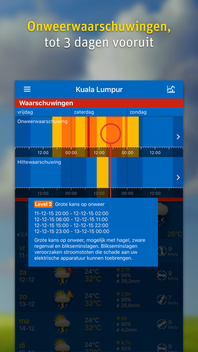 WeatherPro iPhone app afbeelding 4