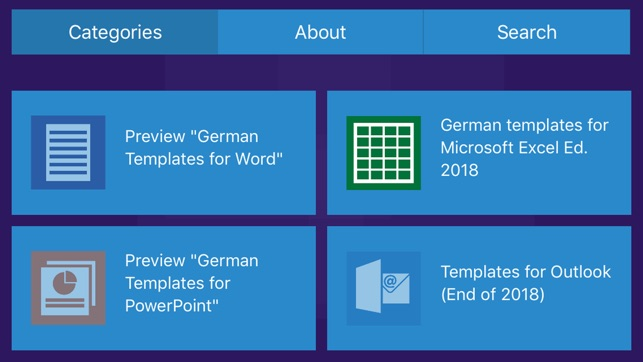 German Templates For Microsoft Excel Powerpoint On The App Store
