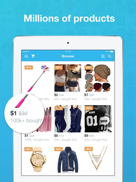 Image of Wish - Shopping Made Fun for iPad