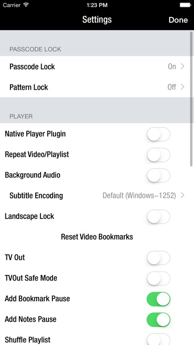 Azul - Video Player for iPhone Screenshots