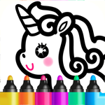 Раскраска для девочек и детей! на пк