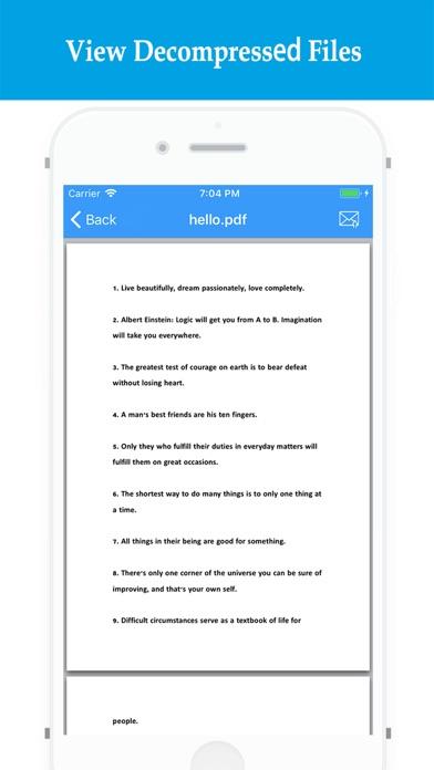 RARZIP - Rar Zip File Opener Screenshot on iOS