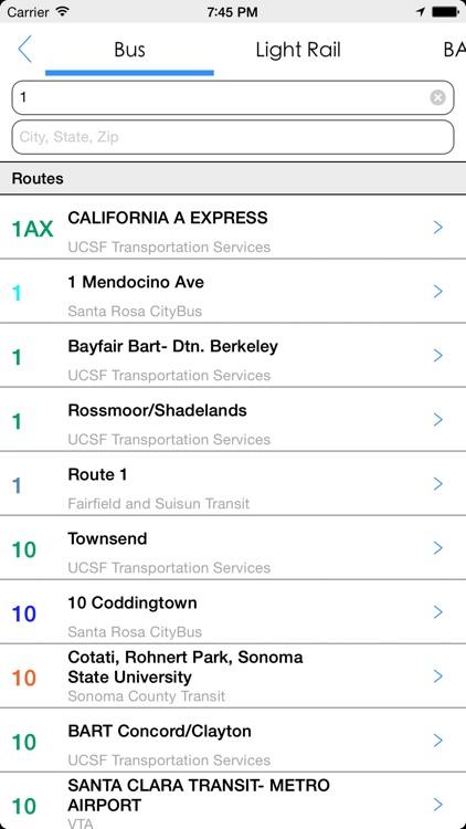 Transit Tracker - San Fran screenshot-4