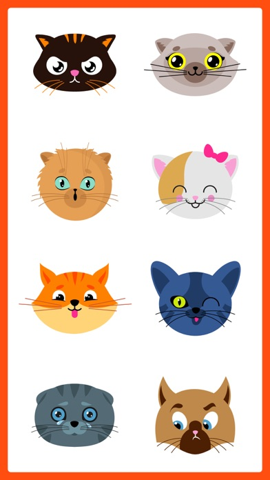 Adorable Cat SMS Stickers Pack screenshot one