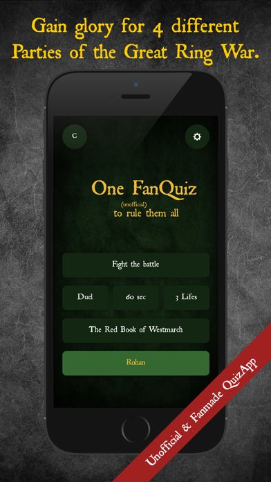 One Quiz to rule them all screenshot four
