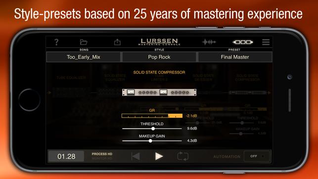 Lurssen Mastering Console Screenshot