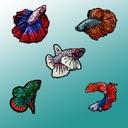 Bitty Bettas Fish Stickers