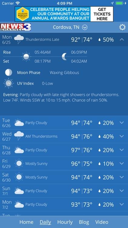 WREG Memphis Weather screenshot-3