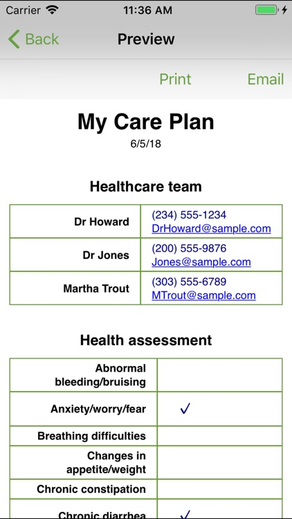 My Care Plan-cancer survivors screenshot-5