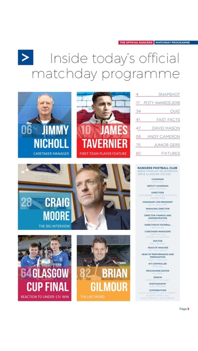 Rangers Fc Digital Programme review screenshots