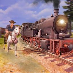 Horse Riding Vs Train Race Sim