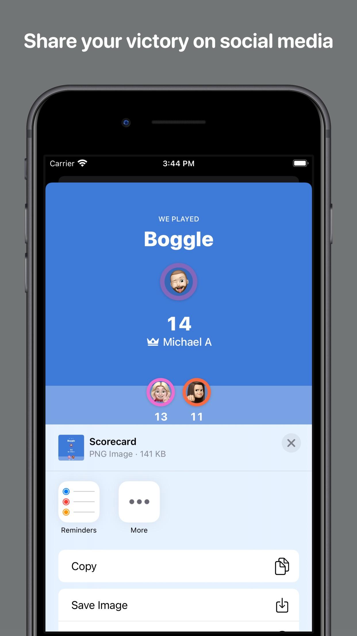Screenshot do app Scorecard: Point Tracker