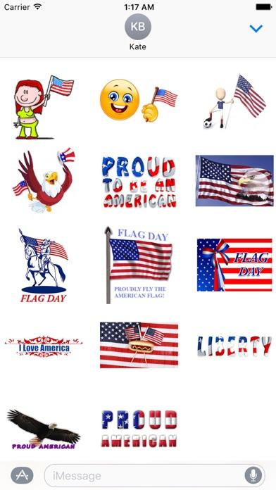 Animated Flag Day Sticker screenshot 2