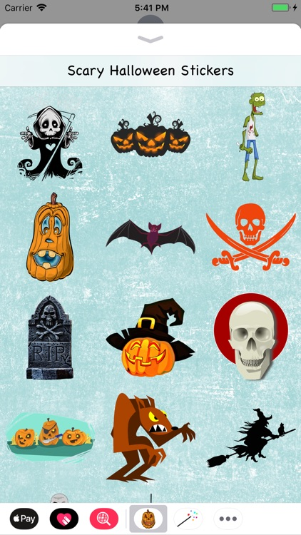 Scary Halloween Stickers