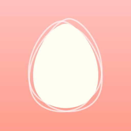 基礎体温グラフで生理日・排卵日を予測:eggy