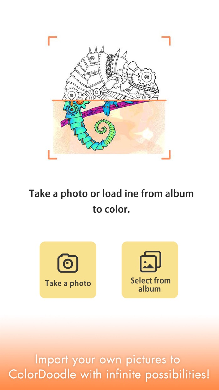 Adult Coloring Book Color Page Screenshot