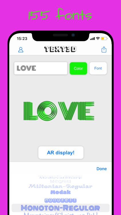 AR Text - 3D text to AR screenshot-5