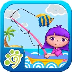小公主安娜海滨钓鱼-小朋友玩的游戏