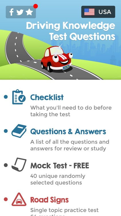 US Driving Knowledge Test 2018