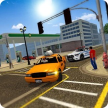 Crazy City Taxi Car Driver 3D